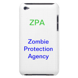 ZPA Zombie Protection Agency iPod Touch Case