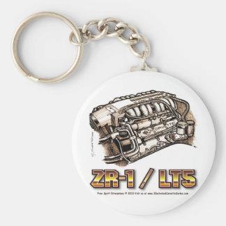 ZR1 LT5 Corvette Engine Basic Round Button Keychain