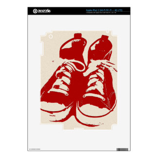 zRed Shoes Skin Skin For iPad 3