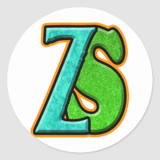 ZS - Zombie Squash TM Classic Round Sticker