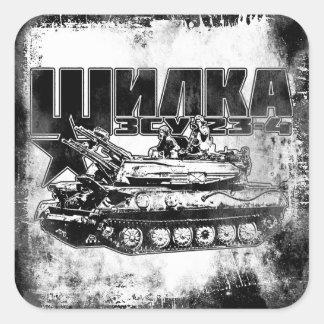 ZSU-23-4 Shilka Square Stickers