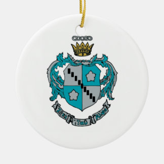 ZTA Crest Color Ceramic Ornament