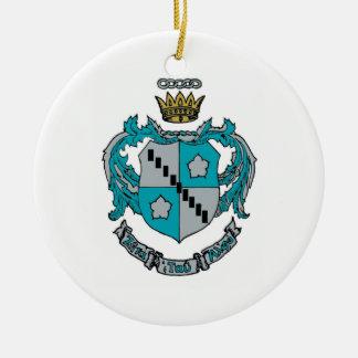 ZTA Crest Color Ceramic Ornament