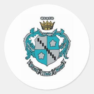 ZTA Crest Color Classic Round Sticker
