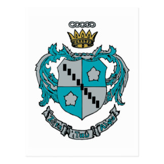 ZTA Crest Color Postcard