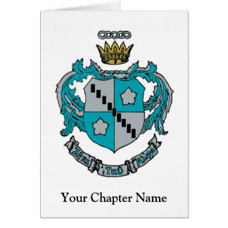 ZTA Crest Color Stationery Note Card