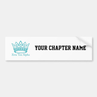ZTA Crown with ZTA Bumper Sticker