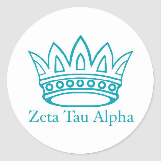 ZTA Crown with ZTA Classic Round Sticker