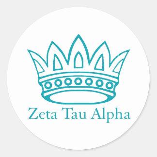 ZTA Crown with ZTA Classic Round Sticker