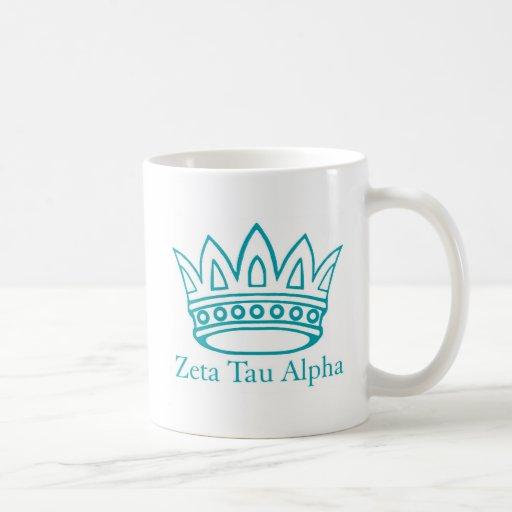 ZTA Crown with ZTA Classic White Coffee Mug