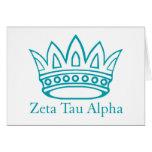 ZTA Crown with ZTA Greeting Card
