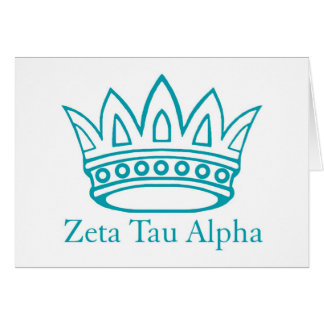 ZTA Crown with ZTA Greeting Card