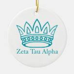 ZTA Crown with ZTA Double-Sided Ceramic Round Christmas Ornament