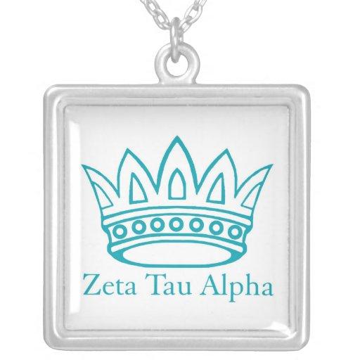 ZTA Crown with ZTA Square Pendant Necklace