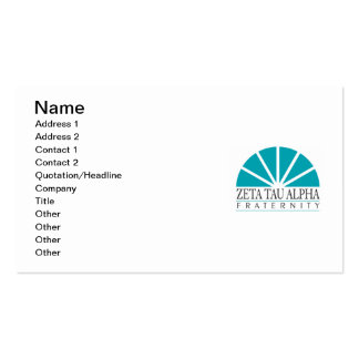 ZTA Logo Double-Sided Standard Business Cards (Pack Of 100)