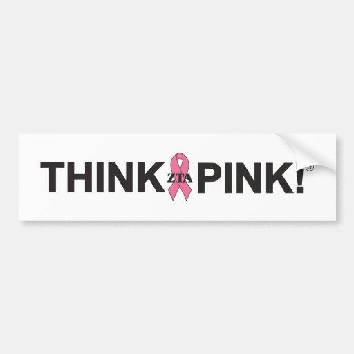 ZTA Think Pink! Bumper Stickers