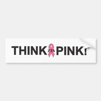 ¡ZTA Think Pink! Pegatina De Parachoque
