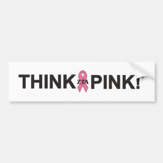 ¡ZTA Think Pink! Pegatina Para Auto