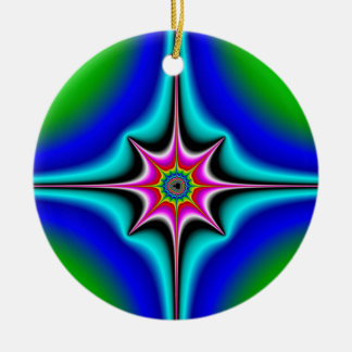 Ztaar Double-Sided Ceramic Round Christmas Ornament