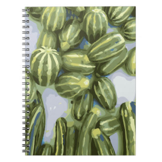 Zucchini and Winter Squash Harvest Spiral Note Book