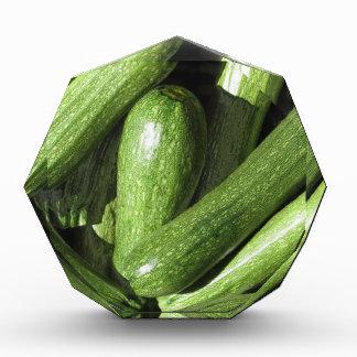Zucchini background acrylic award