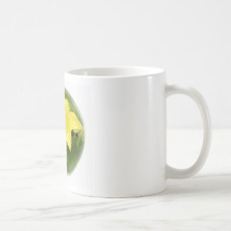 Zucchini Blossom in Swirl Classic White Coffee Mug