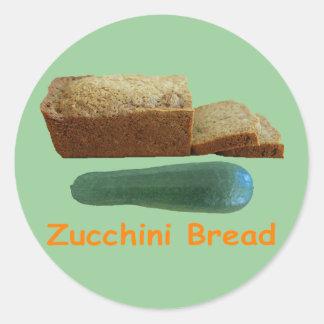 Zucchini Bread Round Stickers