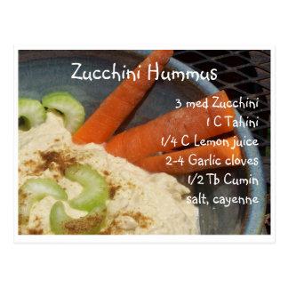 Zucchini Hummus Post Card