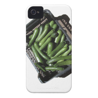 Zucchini in box on white background iPhone 4 Case-Mate case
