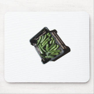 Zucchini in box on white background mouse pad
