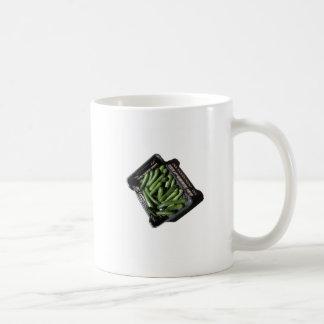 Zucchini in box on white background classic white coffee mug
