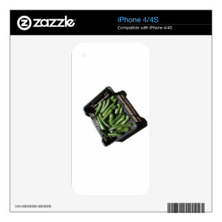 Zucchini in box on white background skins for iPhone 4S