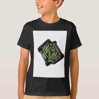 Zucchini in box on white background T-Shirt