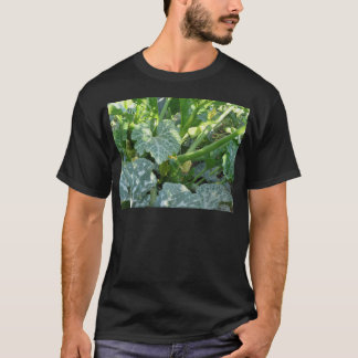 Zucchini plant in blossom in the garden in Tuscany T-Shirt