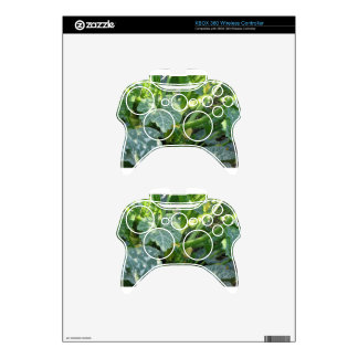 Zucchini plant in blossom in the garden in Tuscany Xbox 360 Controller Decal
