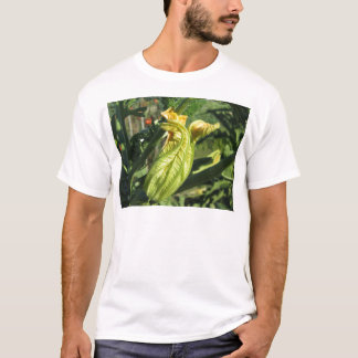 Zucchini plant in blossom in the vegetable garden T-Shirt