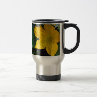 Zucchini Squash Blossom - photograph 15 Oz Stainless Steel Travel Mug