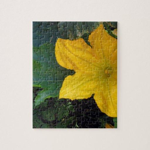 Zucchini Squash Blossom - photograph Puzzle