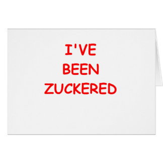 ZUCKER2.png Greeting Card