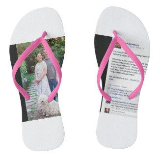 Zuckerberg Adult Flip Flops