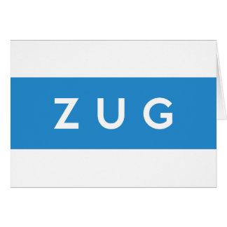 zug province Switzerland swiss flag text name Greeting Card