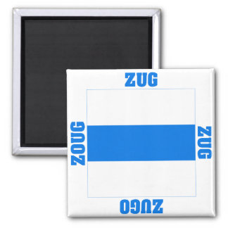 Zug Switzerland Canton Flag 2 Inch Square Magnet