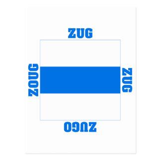 Zug Switzerland Canton Flag Postcard