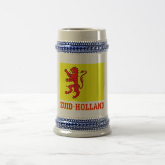 Zuid-Holland Flag with name Beer Stein