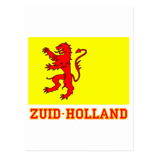 Zuid-Holland Flag with name Postcard