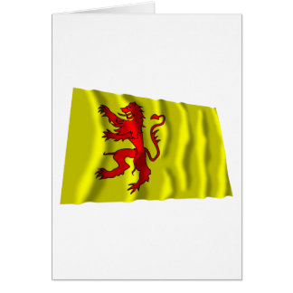 Zuid-Holland Waving Flag Card