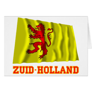 Zuid-Holland Waving Flag with Name Card