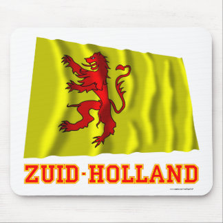 Zuid-Holland Waving Flag with Name Mouse Pad