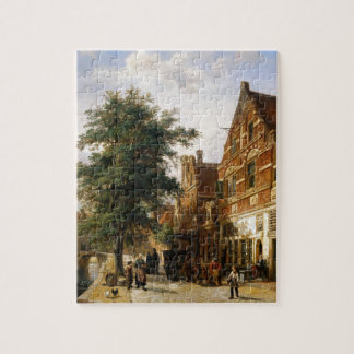 Zuiderhavendijk, Enkhuizen by Cornelis Springer Jigsaw Puzzle