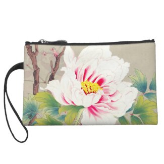 Zuigetsu Ikeda Pink Camellia japanese flower art Wristlet Clutch